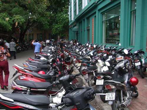 バイクの洪水